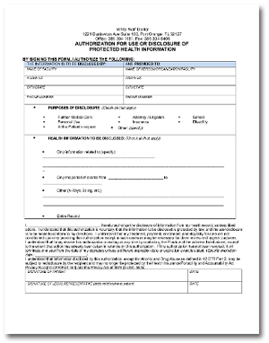 HIPAA Release Form Download