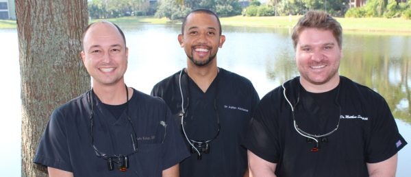 Drs. John Kulaga, Adrian Abrahams, and Matthew Scarpitti lead the highly skilled team at White Wolf Dental in Port Orange, FL