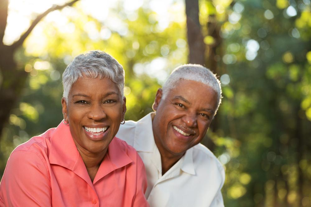 Couple happy with implant dentures
