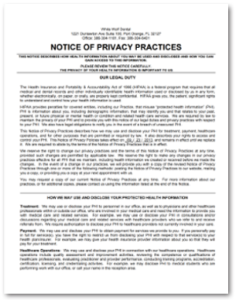 HIPAA Privacy Policy download link