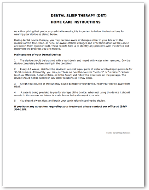 Home Care Instructions Download